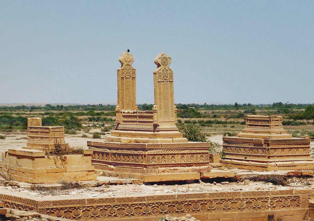 An example of Arghun stone architecture on a grave that was built during the time of their rule in the first half of the sixteenth century. The Arghuns defeated the Sammas in 1520 to take over Lower Sindh for a few decades. - Photo by Mukhtar Azad/Dawn.com
