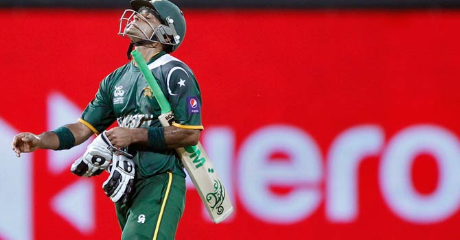Mohammad Hafeez scored 42 runs for Pakistan but it wasn't enough to take them past the Sri Lankan total of 139. – Photo by Reuters