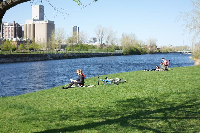 And finally when you are tired of it all you can take a walk along the Lachine canal that runs across the city. It  offers lovely green spaces,shady trees and a bicycle path. The environmentally friendly development along the Canal is a fine example of thoughtful city development.