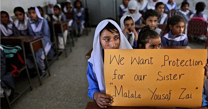 Pakistanis divided on army offensive after Malala attack