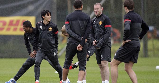 manchester united fc braga, champions league, manchester united, united, rooney, van persie, alex ferguson