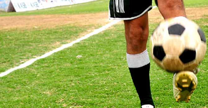 Pakistani football player - File photo by Fahim Siddiqui