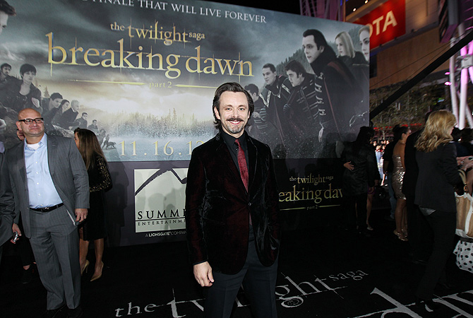 "Michael Sheen attends the world premiere of ""The Twilight Saga: Breaking Dawn Part II"" ? AP Photo"