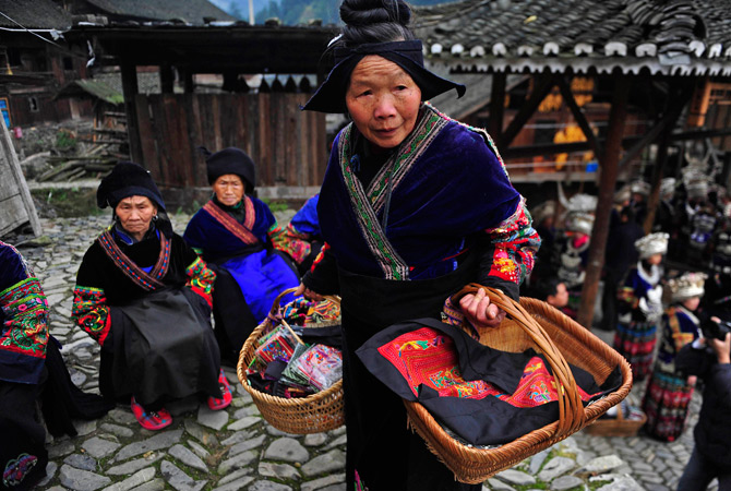 The festival reflects the Miao's social values. These include ancestor worship, harmonious community, hard work, austerity, peace and happiness.