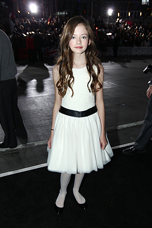 "Mackenzie Foy attends the world premiere of ""The Twilight Saga: Breaking Dawn Part II"" ? AP Photo"