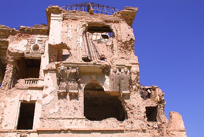 This was built by King Amanullah in 1920s as a part of his efforts to modernize Afghanistan. The Palace now stands in ruins.