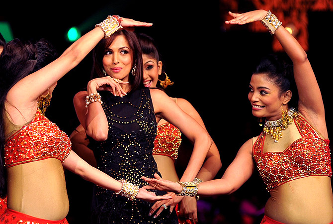 Indian Bollywood actress Malaika Arora Khan, a judge of television show  ?India's Got Talent? performs a dance routine in Mumbai . ? AFP Photo