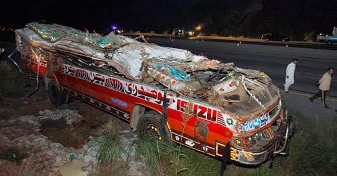 Bus accident in Kallar Kahar claims seven lives, 27 injured