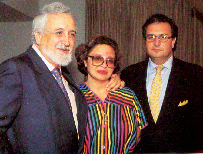 With daughter Ava, and son, Rustom. – Photo courtesy Sama Books