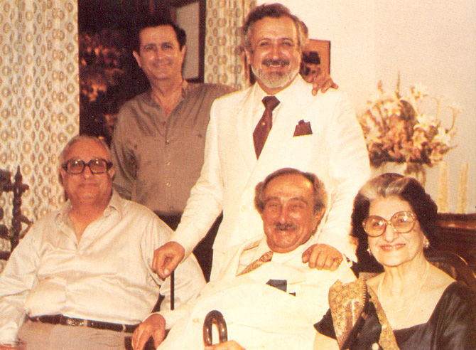 With parents, Mecca and Rustom (sitting R and C) and brothers John (sitting L) and Cyrus (Standing L). – Photo courtesy Sama Books