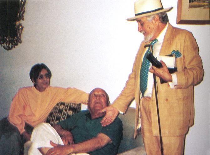 With Amina Jilani and Humayun Khan, former Deputy Commissioner of Bannu and Swat. – Photo courtesy Sama Books