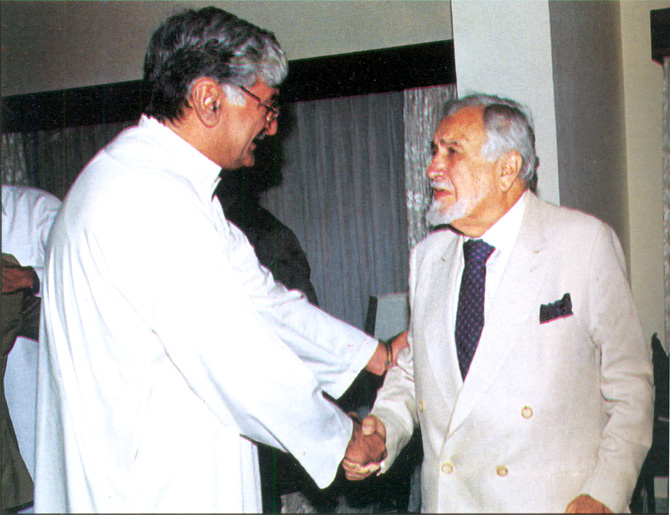 With Asfandyar Wali Khan, President, Awami National Party. – Photo courtesy Sama Books