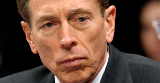 General David Petraeus, a four-star general married for 37 years, stepped down as head of the US spy agency just three days after President Barack Obama's re-election over his fling with Paula Broadwell, an army reservist who travelled to Afghanistan to write a glowing biography of the general. – File photo by AP