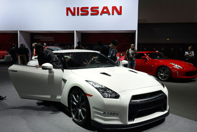 The 2013 Nissan GT-R is on display at the 2012 Los Angeles Auto Show in Los Angeles, California November 28, 2012.