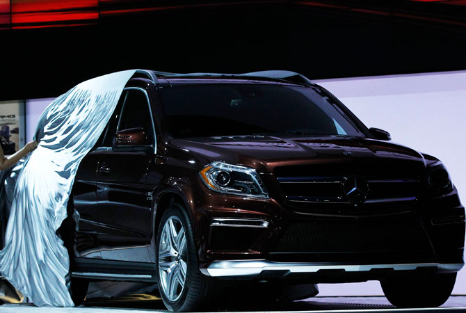 The 2013 Mercedes Benz GL63 AMG is unveiled at the 2012 Los Angeles Auto Show in Los Angeles, California November 28, 2012.