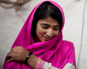 Malala's wounded friends back in school