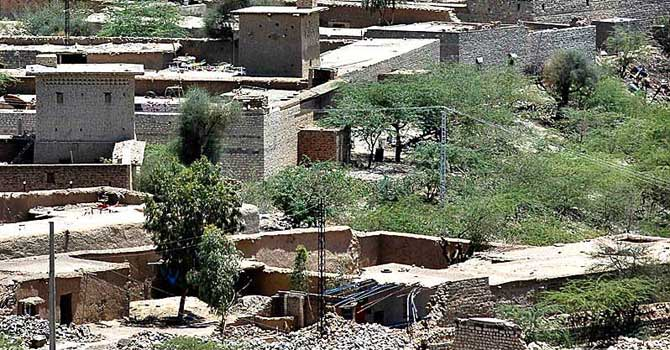 A view of a village in the South Waziristan agency. Three missiles were fired from a drone in the Sheen Warsak area of Wana, South Waziristan. – File photo by APP