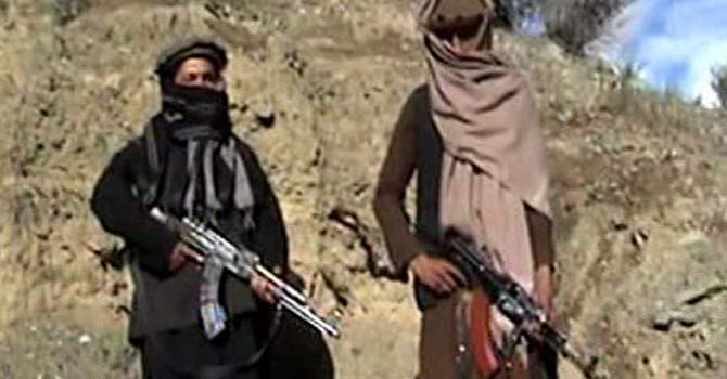 A screen grab taken from a video released on September 11 shows Tehrik-i-Taliban Pakistan (TTP) militants.