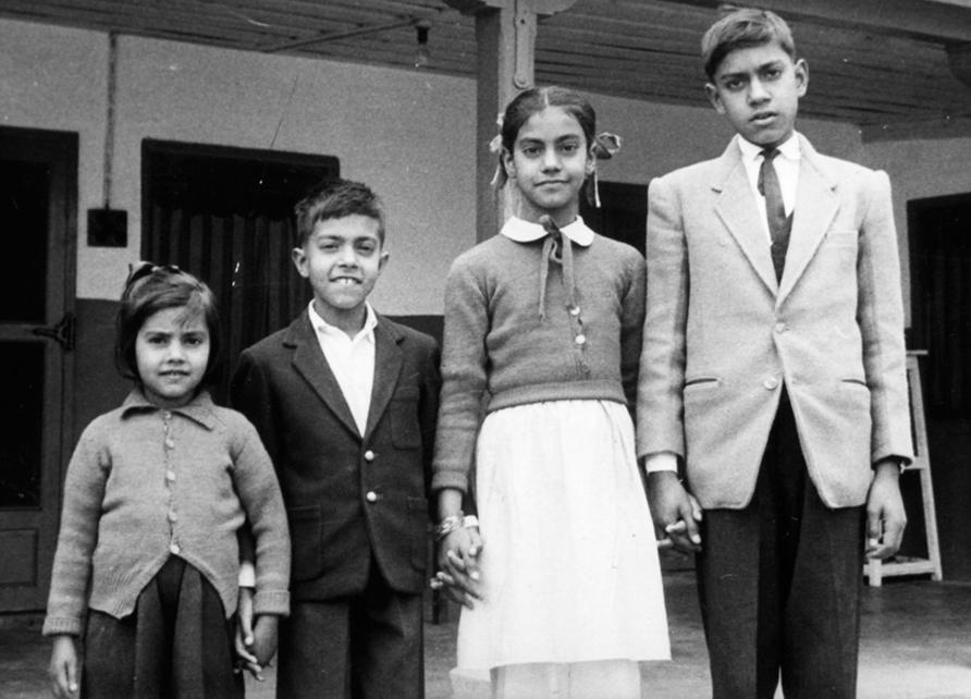 The author (second from left) with his siblings in Quetta, 1965.
