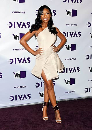 Singer Brandy arrives at the VH1 Divas 2012 show in Los Angeles, December 16, 2012. ? Reuters Photo