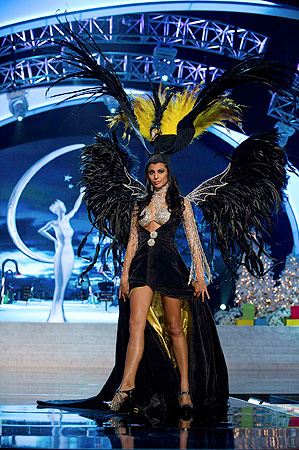 Miss Argentina Camilla Solorzano performs onstage at the 2012 Miss Universe National Costume Show at PH Live in Las Vegas, Nevada December 14, 2012. ? Reuters Photo
