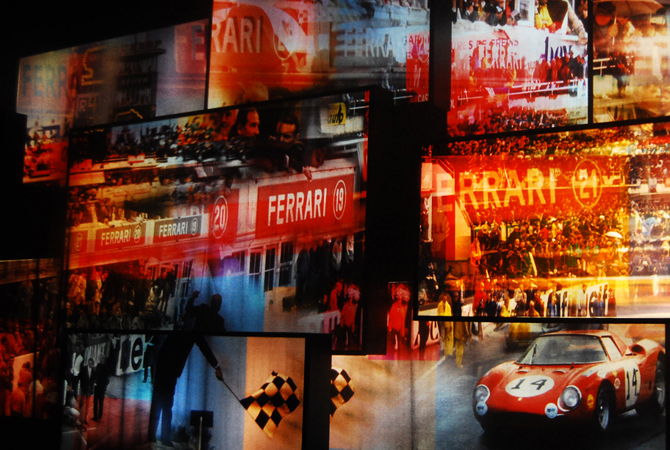 Screen display from one of the 3D rides at Ferrari World in Abu Dhabi.- Photo by Mahjabeen Mankani/Dawn.com