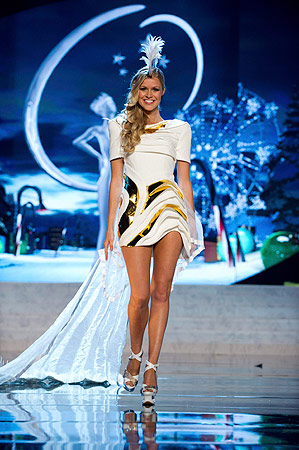 Miss Australia Renae Ayris performs onstage at the 2012 Miss Universe National Costume Show at PH Live in Las Vegas, Nevada December 14, 2012. ? Reuters Photo