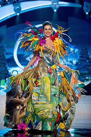 Miss Brazil Gabriela Markus performs onstage at the 2012 Miss Universe National Costume Show at PH Live in Las Vegas, Nevada December 14, 2012. ? Reuters Photo