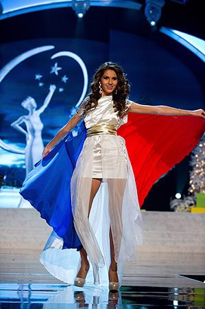 Miss France Marie Payet performs onstage at the 2012 Miss Universe National Costume Show at PH Live in Las Vegas, Nevada December 14, 2012. ? Reuters Photo