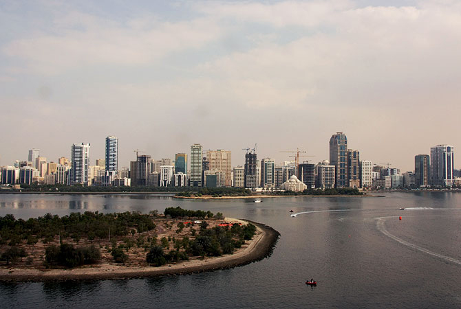 Buhaira Corniche  Sharjah, Sharjah is about 170 kilometers away from its sister city, UAE's capital city of Abu Dhabi and less than 20 kilometers from the more popular emirate, Dubai.- Photo by Eefa Khalid