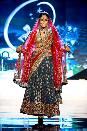 Miss India Shilpa Singh performs onstage at the 2012 Miss Universe National Costume Show at PH Live in Las Vegas, Nevada December 14, 2012. ? Reuters Photo