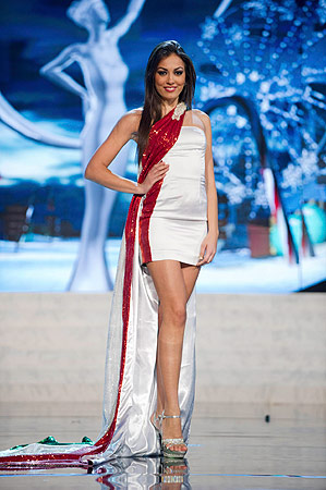 Miss Italy Grazia Pinto performs onstage at the 2012 Miss Universe National Costume Show at PH Live in Las Vegas, Nevada December 14, 2012. ? Reuters Photo
