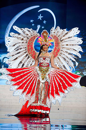 Miss Indonesia Maria Selena performs onstage at the 2012 Miss Universe National Costume Show at PH Live in Las Vegas, Nevada December 14, 2012. ? Reuters Photo