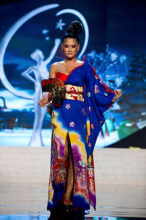 Miss Japan Ayako Hara performs onstage at the 2012 Miss Universe National Costume Show at PH Live in Las Vegas, Nevada December 14, 2012. ? Reuters Photo