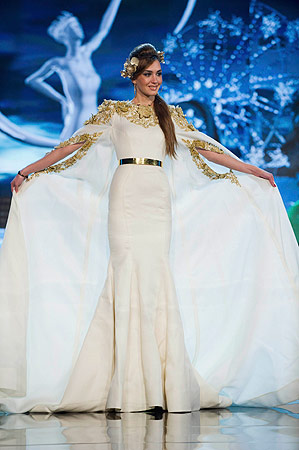 Miss Lebanon Rina Chibany performs onstage at the 2012 Miss Universe National Costume Show at PH Live in Las Vegas, Nevada December 14, 2012. ? Reuters Photo