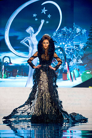 Miss Malaysia Kimberley Leggett performs onstage at the 2012 Miss Universe National Costume Show at PH Live in Las Vegas, Nevada December 14, 2012. ? Reuters Photo