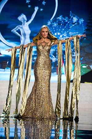 Miss Israel 2012 Lina Makhuli performs at the 2012 Miss Universe National Costume Show of the 2012 Miss Universe Presentation Show on December 14, 2012 in Las Vegas. ? AFP Photo