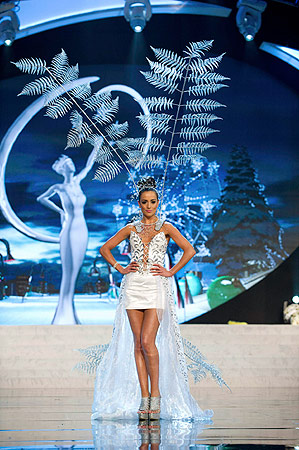 Miss New Zealand Talia Bennett performs onstage at the 2012 Miss Universe National Costume Show at PH Live in Las Vegas, Nevada December 14, 2012. ? Reuters Photo