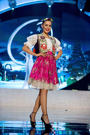 Miss Czech Republic Tereza Chlebovska performs onstage at the 2012 Miss Universe National Costume Show at PH Live in Las Vegas, Nevada December 14, 2012. ? Reuters Photo