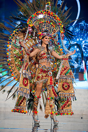 Miss Mexico 2012 Karina Gonzalez performs at the 2012 Miss Universe National Costume Show of the 2012 Miss Universe Presentation Show on December 14, 2012 in Las Vegas. ? AFP Photo