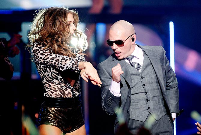 Rapper Pitbull performs ?Don't Stop the Party? during the VH1 Divas 2012 show in Los Angeles.  ? Reuters Photo