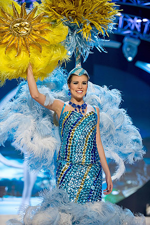 Miss Uruguay 2012 Camila Vezzoso performs at the 2012 Miss Universe National Costume Show of the 2012 Miss Universe Presentation Show on December 14, 2012 in Las Vegas. ? AFP Photo