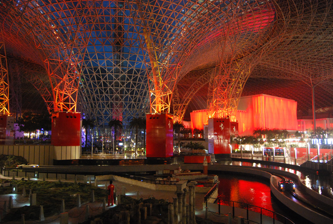 Inside structure at Ferrari World, Abu Dhabi.- Photo by Mahjabeen Mankani/Dawn.com