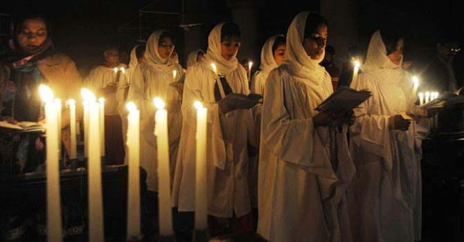 """The lights are all up, and the choir boys are ready. The church is looking its best,"" said 60-year-old Alam, a former missionary who has celebrated his last ten Christmases there.""There's not much left to do but to pray and rejoice."" - File Photo"