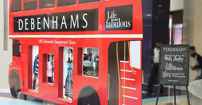 British department store Debenhams opened at Karachi's Dolmen City Mall in July 2012. – Photo courtesy Creative Commons