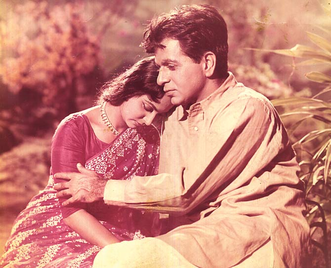 "Dilip Kumar and Waheeda Rehman in ""Dil diya, dard liya"" - File photo courtesy author"