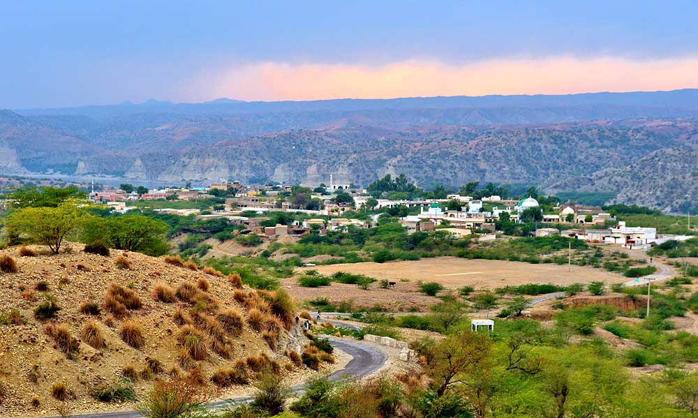 A view of Makhad Sharif. The town would completely submerge in water if the proposed hydroelectric Kalabagh dam is constructed.