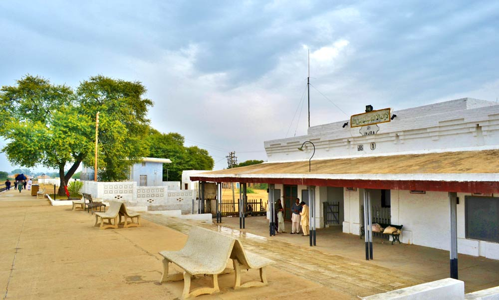 Injra railway station, built by the British during the later part of the 19th century.