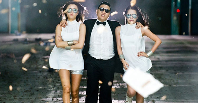 """Gangnam Style"" by South Korea's Psy."