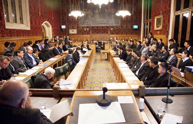 "Conference on ""Hazara genocide in Pakistan"" at the House of Commons in London. – Photo courtesy author"
